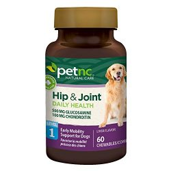 PetNC Natural Care Hip and Joint Health Early Mobility Chewables for Dogs, 60 Count
