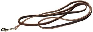 Coastal Pet Products DCP2063 3/8-Inch by 6-Feet Leather Circle T Latigo Dog Leash with Nickel Plated Snaps