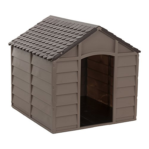 Starplast Small Dog House/Kennel, Mocha/Brown