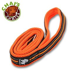 Chai's Choice Pet Products 44″ Best Padded 3M Reflective Outdoor Adventure Dog Leash, Medium, Orange