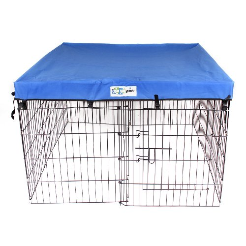 4′ x 4′ GoGo Pet Products Exercise Pen UV Top / Cover Royal Blue
