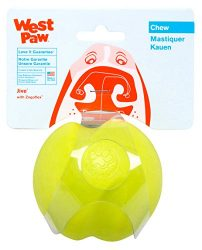 West Paw Zogoflex Jive Durable Nearly Indestructible Dog Ball Chew-Fetch-Play Dog Toy, 100% Guaranteed Tough, It Floats!, Made in USA, Small 2.6-Inch, Tangerine