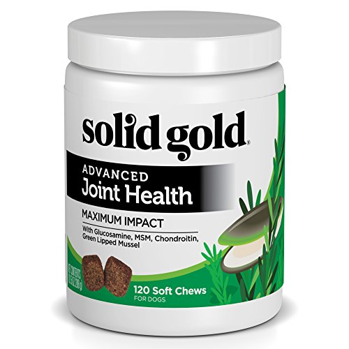 Solid Gold Glucosamine & Joint Health Chews for Dogs; Natural, Holistic Grain-Free Supplement with Glucosamine, MSM & Chondroitin