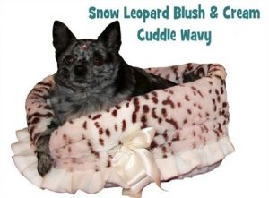 Pet Flys Snow Leopard Reversible Snuggle Bugs Pet Bed, Bag and Car Seat In One