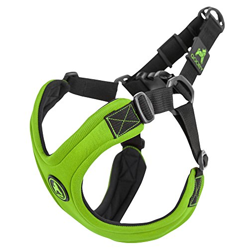 Gooby Escape Free Sport Dog Harness for Dogs that Pulls and Escapes, Lime, Medium