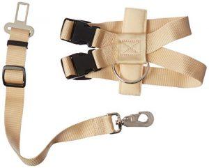 Guardian Gear Ride Right Classic Car Harnesses — Sturdy Nylon Harnesses for Dogs – X-Small, Khaki