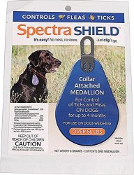 Durvet Spectra Shield Collar Attached Medallion, 56-Pound and Over