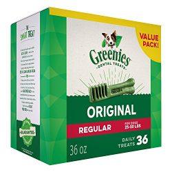 Greenies Original Regular Size Dog Dental Chews – 36 Ounces 36 Treats