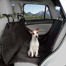 PETMAKER Pet Seat Cover Car Protector- Bench Hammock Backseat Liner, Quilted Waterproof All Weather Mat with Non-Slip Backing for Car/Truck/SUV by