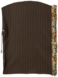 Pet Flys 500-073 BCSMMD Plain Puppy Holdem Sling Brown with Cheetah Trim, Small/Medium