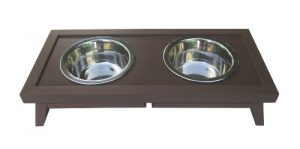 ecoFLEX Adjustable Height Double Dog Bowl by New Age Pet-Small-Russet