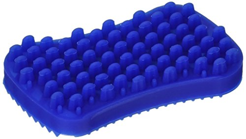 Petyls Multi, Functional Two, Sided 100% Silicone Pet Brush for Dogs and Cats, Deshedding, Grooming, Brushing, Massaging, Relaxing, Use Wet or Dry, Perfect for Baths, Cleans and Shines Coat, Blue