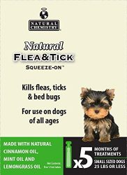 Natural Chemistry 11262 Flea & Tick Squeeze On for Small Dogs, 25 lb