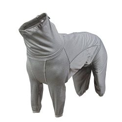 Hurtta Body Warmer Dog Body Suit, Recovery Suit, Carbon Grey, 16M