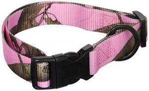 OmniPet Realtree APC Kwik Klip Dog Collars, Pink Camouflage