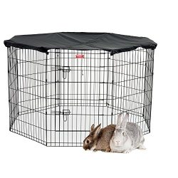 Lucky Dog Pet Exercise Pen with Cover, 36″ x 6′