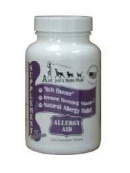 Aunt Jeni's Home Made Allergy Aid for Pets,120 Chewable Tablets