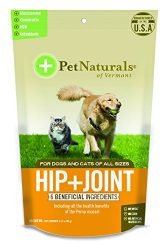 Pet Naturals of Vermont – Hip + Joint, Daily Joint Supplement for Dogs and Cats, 60 Bite-Sized Chews