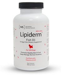 Lipiderm Gel Cap Skin and Coat Supplement for Small and Medium Dogs, 180 count