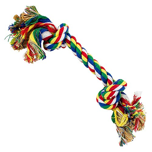 Weebo Pets Cotton Flossin' Rope Bone Dog Toy