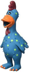 Multipet 11.5-Inch Latex Polka Dot Globken Chicken Dog Toy