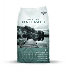 Diamond Naturals SENIOR Real Meat Recipe Natural Dry Dog Food with Real Cage Free Chicken, 35lb