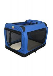 Go Pet Club AC48 Soft Dog Crate, Blue – 48 inches L X 32 inches W X 32 inches H