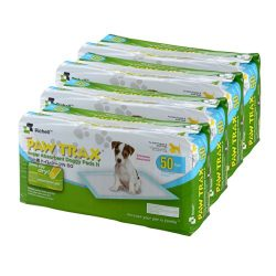 Richell Paw Trax Super Absorbent Doggy Pads, 200-Pack