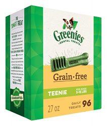 Greenies Grain-free TEENIE Dog Dental Chews – 27 Ounces 96 Treats