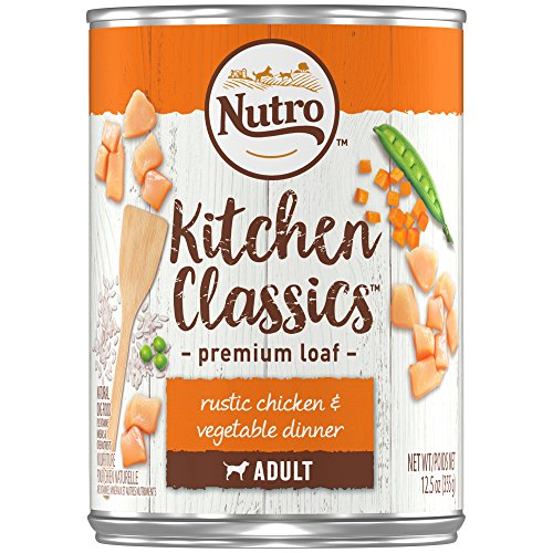 NUTRO Kitchen Classics Adult Wet Dog Food, Rustic Chicken & Vegetable Dinner Premium Loaf 12.5 Ounce Cans (Pack of 12); Rich in Nutrients and Full of Flavor; Supports Healthy Digestion & Healthy Skin and Coat