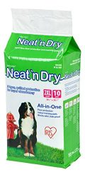 IRIS Neat 'n Dry Premium Pet Training Pads, Jumbo, 38″ x 38″, 10 Count