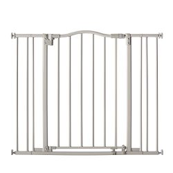 Supergate Arched Auto Close Gate, Grey, Fits Spaces between 28.75″ to 38.25″ wide and 30″ High