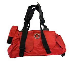 Kruuse Buster Comfort Nylon Pet transport Bag, 4-8 lb, Red