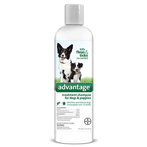 Advantage Shampoo Flea and Tick Treatment for Dogs and Puppies 12 oz