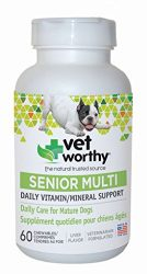 Vet Worthy SENIOR Multi Vitamin Liver Flavored Chewables for Dogs (60 count)