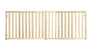 Four Paws Vertical Wood Slat Dog Gate, 51-93″ W by 24″ H