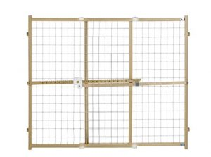 Quick Fit Wire Mesh Gate, Fits Spaces between 29.5″ to 50″ wide and 32″ high