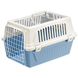 Ferplast Atlas 10 Top Opening Cat and Dog Carrier, Blue