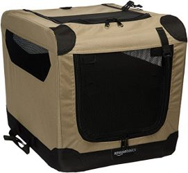 AmazonBasics Folding Soft Dog Crate, 21″