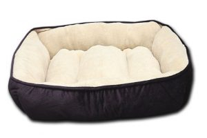 HappyCare Textiles HCT REC-002 Luxury Embossed Rectangle Micro Mink Dog and Pet Bed, Large, Burn Out Purple