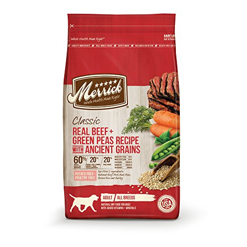 Merrick Dry Dog Food with added Vitamins & Minerals for All Breeds, 25-Pound, Beef