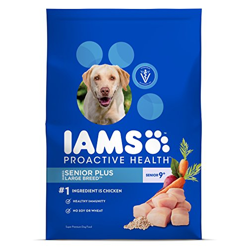 Iams ProActive Health Senior Plus Dry Dog Food for Large Dogs – Chicken, 30 Pound Bag