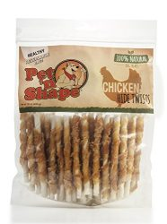 Pet 'n Shape Chicken Hide Twists Natural Dog Treats, 1 Pound