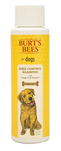 Burt's Bees for Dogs All-Natural Shed Control Shampoo with Omega 3s and Vitamin E | Best Anti-Shedding Shampoo for All Dogs & Puppies, 16 ounces