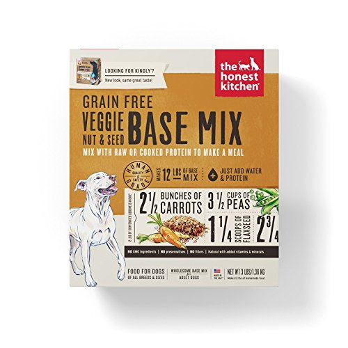 Honest Kitchen The Grain Free Veggie, Nut & Seed Base Mix Recipe for Dogs, 3 lb box – Kindly