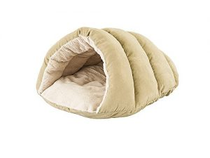 Ethical Pets Sleep Zone Cuddle Cave Pet Bed, 22″, Tan