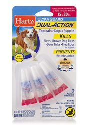 HARTZ Ultra Guard Dual Action Drops for Dogs & Puppies, 15-30 lb