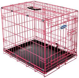 Petmate 21929 Puppy 2 Door Training Retreat, 24-Inch, Pink