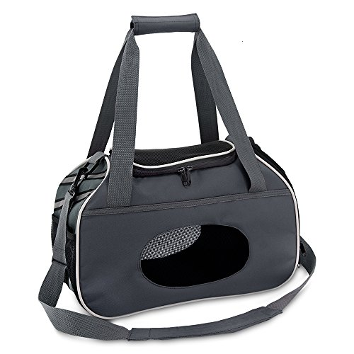 Best Pet Supplies Pet Travel Carrier for Small Dogs and Cats with Ventilation, Grey