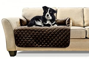 FurHaven Sofa Buddy Furniture Cover Pet Bed for Dogs and Cats, Espresso/Clay, Medium